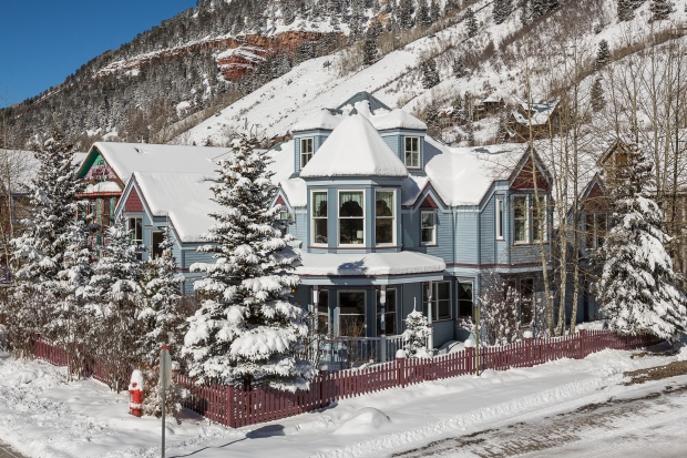 House on Hemlock and Main Steet, Telluride, Colorado.