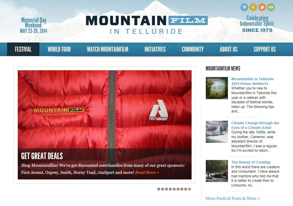 MOUNTAINFILM CELEBRATES ANOTHER YEAR THIS MEMORIAL DAY WEEKEND