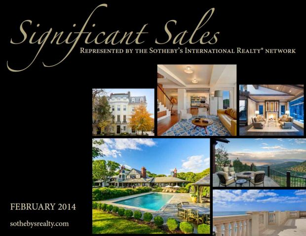 Sotheby's International Realty Presents February 2014 Significant Sales