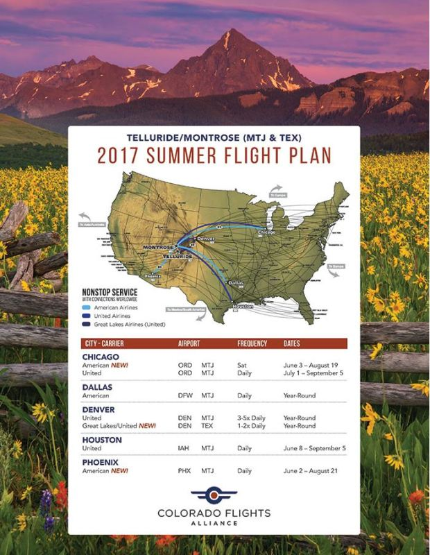 tex flight schedule summer 2017